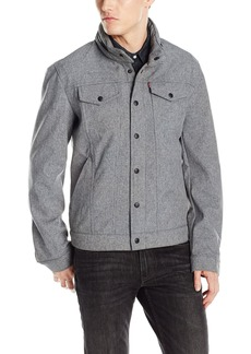 Levi's Men's Soft Shell Stand Collar Commuter Trucker Jacket  X