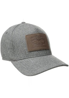 Levi's Men's Solid Melton Baseball Cap with Signature Leather Horse