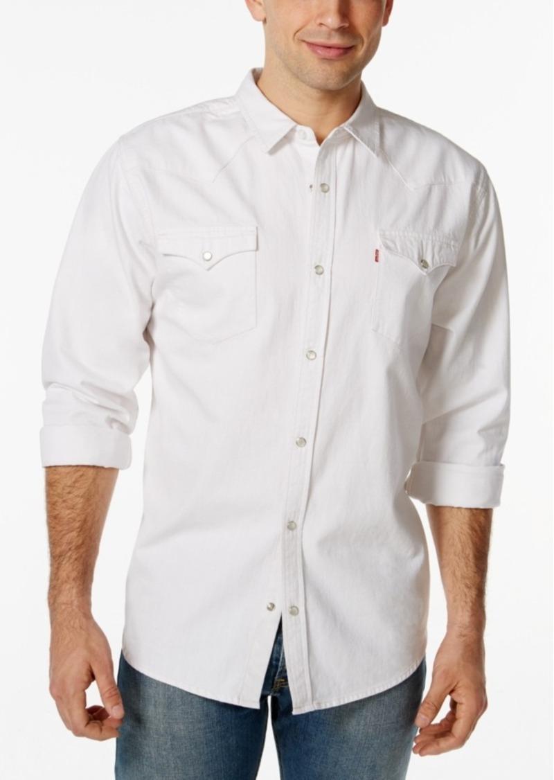 27e1896cd3c Levi's Levi's Men's Standard Barstow Western Long-Sleeve Denim Shirt ...