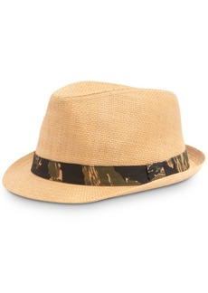 Levi's Men's Straw Fedora with Camouflage Band