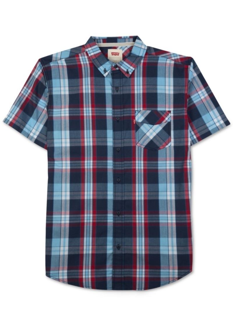 Levi's Men's Tabbel Plaid Button-Down Short-Sleeve Shirt