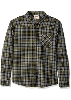 Levi's Men's Tongass Plaid Shirt black medium