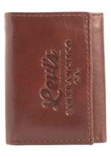 Levi's Men's Tri-Fold Rfid Zip-Pocket Wallet