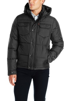 Levi's Men's Two Pocket Puffer Hooded Jacket