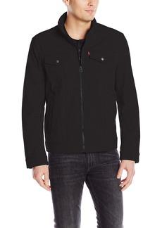 Levi's Men's Two Pocket Soft Shell Military Jacket