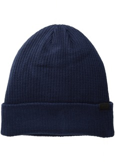 Levi's Men's Waffle Beanie with 2X1 Rib Cuff and Fleece Lining