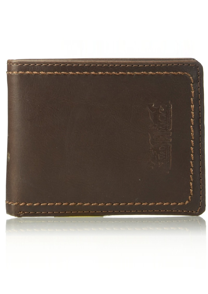 Levi's  Men's  Wallet with Gift SetTan with Clip