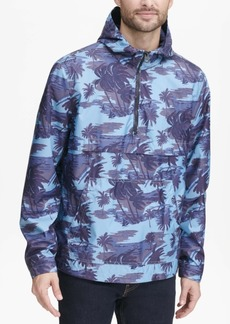 Levi's Men's Water-Resistant Palm-Print 1/2-Zip Jacket