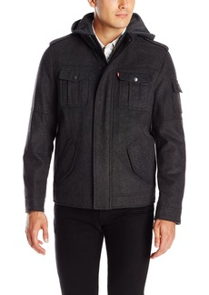 Levi's Men's Wool Blend Four Pocket Hoody with Jersey Hood
