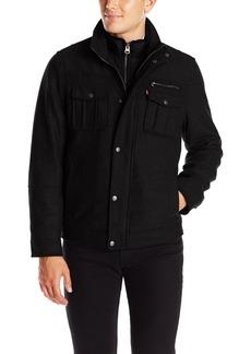 Levi's Men's Wool Blend Two Pocket Trucker Jacket with Puffer Bib