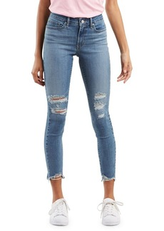 Levi's Mid-Rise Distressed Skinny Jeans