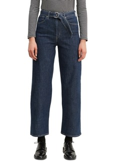 Levi's Mile High Belted Cropped Wide-Leg Jeans
