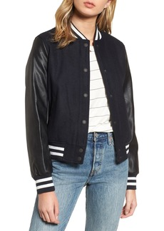 LEVIS® Mixed Media Varsity Bomber Jacket