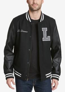 Levi's Mixed Media Varsity Jacket With Logo