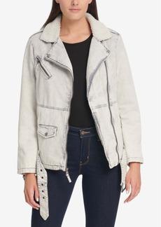 Levi's Oversized Acid Wash Cotton Moto Jacket