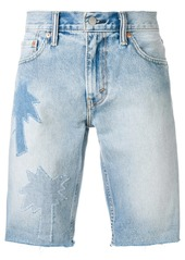 Levi's palm applique shorts - Blue