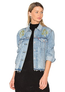 LEVI'S Palm Embroidered Denim Jacket. - size M (also in S,XS)
