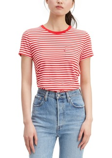 Levi's Women's Perfect Striped Cotton T-Shirt