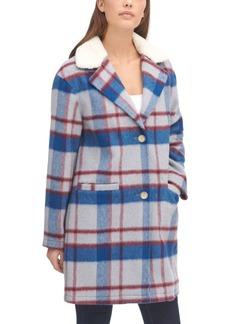 Levi's Women's Plaid Faux Fur Collar Jacket