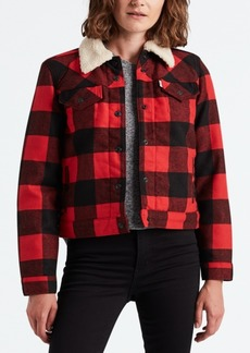 Levi's Plaid Sherpa-Collar Jacket