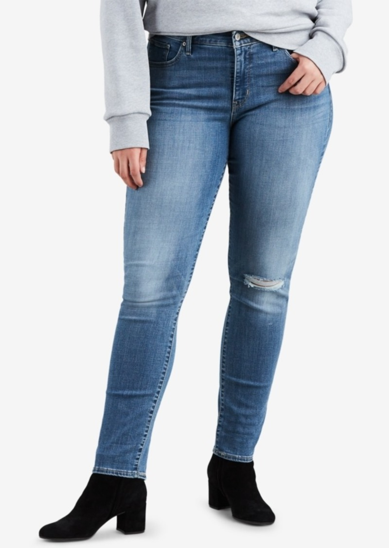 Levi's Plus Size 311 Shaping Distressed Skinny Jeans