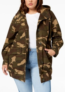 Levi's Plus Size Cotton Camo Bubble Parka