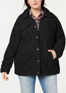 Levi's Plus Sized Long Line Sherpa Trucker Jacket