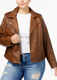 Levi's Plus Size Faux-Leather Moto Jacket