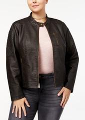 Levi's Plus Size Faux-Leather Racer Jacket