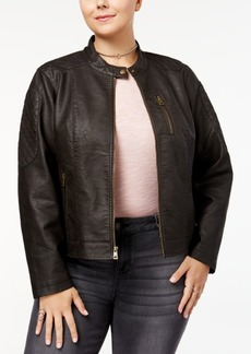 Levi's Plus Size Faux-Leather Racer Jacket