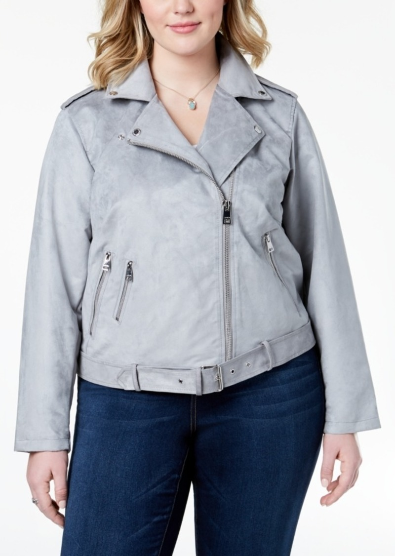 2b9242e02b9 Levi s Levi s Plus Size Faux-Suede Belted Moto Jacket Now  119.99