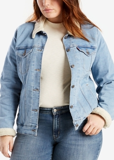 Levi's Plus Size Fleece-Lined Denim Trucker Jacket