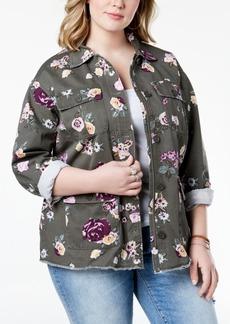 Levi's Plus Size Floral-Print Jacket
