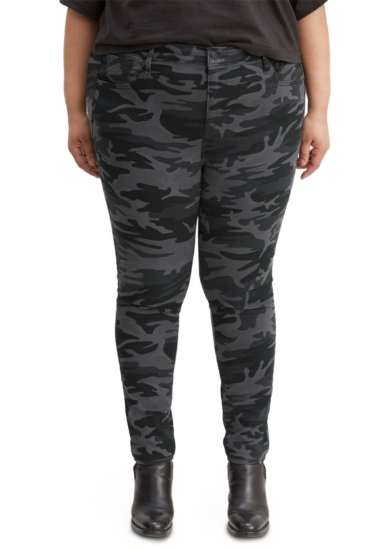 Levi's Trendy Plus Size High-Rise Printed Skinny Pants