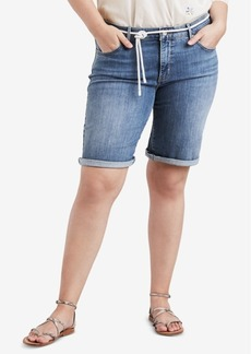 Levi's Plus Size Lost Blues Cotton Denim Bermuda Shorts
