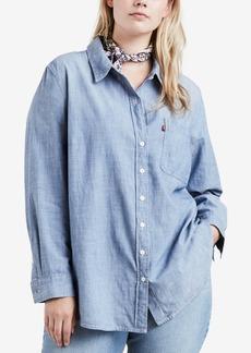 Levi's Plus Size Plaid Boyfriend-Fit Shirt