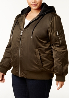 Levi's Plus Size Satin Hooded Bomber Jacket