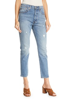 Levi's 501 Leave A Trace Skinny Ankle Jeans