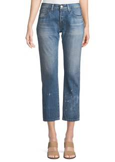 Levi's 501 Taper Aizome Straight-Leg Cropped Jeans