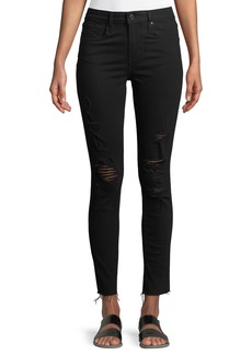 Levi's 721 Atomic High-Rise Skinny-Leg Jeans w/ Raw-Edge Hem
