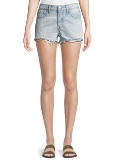 Levi's Bleached Authentic Denim Cutoff Shorts