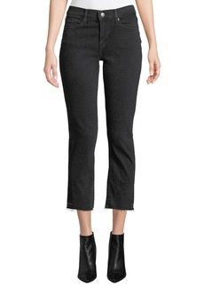 Levi's Premium Curvy Mid-Rise Straight-Leg Cropped Jeans