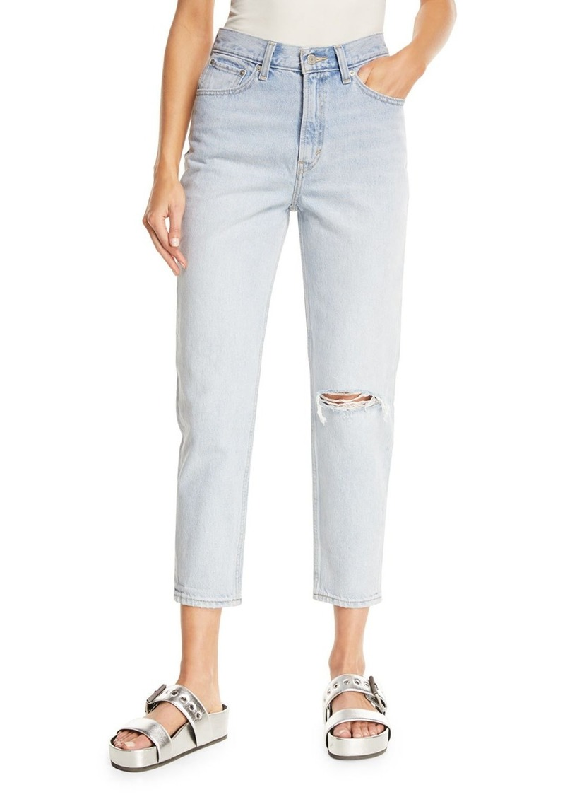 Levi's Donna Martin Straight-Leg Cropped Mom Jeans