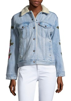 Levi's Faux Fur-Trimmed Denim Jacket