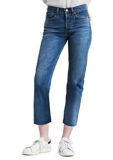 Levi's Premium Wedgie Straight-Leg Jeans with Raw Hem