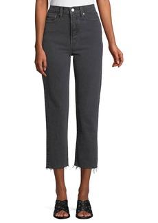 Levi's Wedgie That Girl High-Waist Straight-Leg Jeans w/ Raw Hem