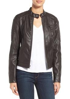 Levi's® Quilt Detail Faux Leather Racer Jacket