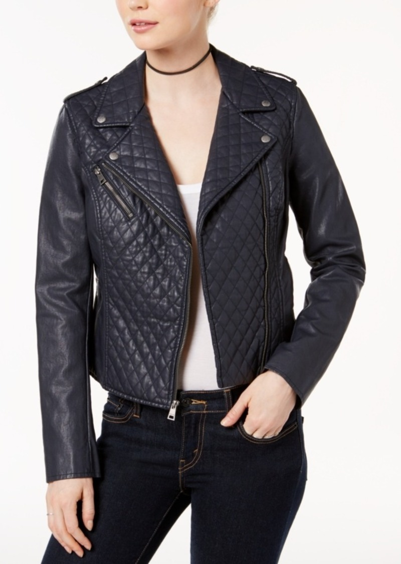 Levis Levis Quilted Faux Leather Moto Jacket Outerwear