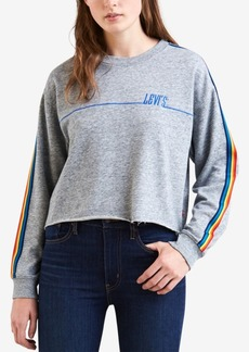 Levi's Rainbow-Striped Cropped Sweatshirt