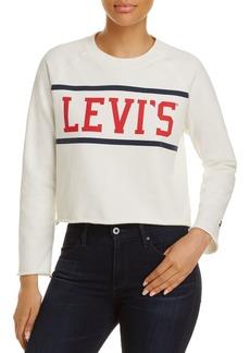 Levi's Raw-Edge Graphic Fleece Sweatshirt